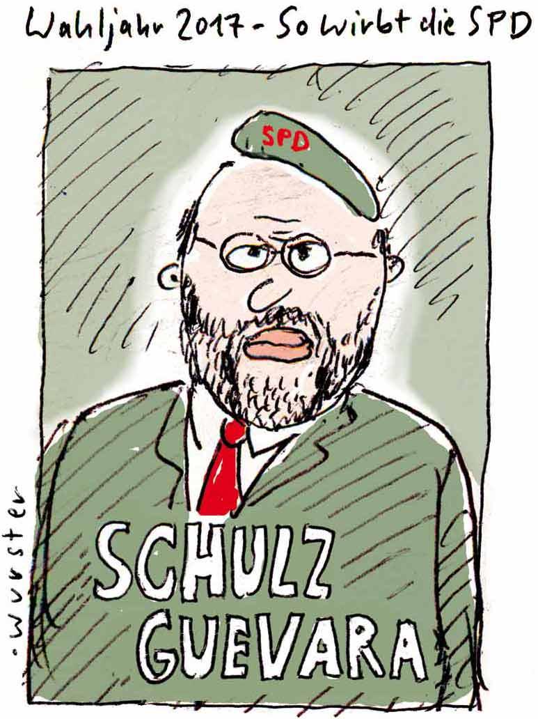 Martin Schulz ist Che Guevara