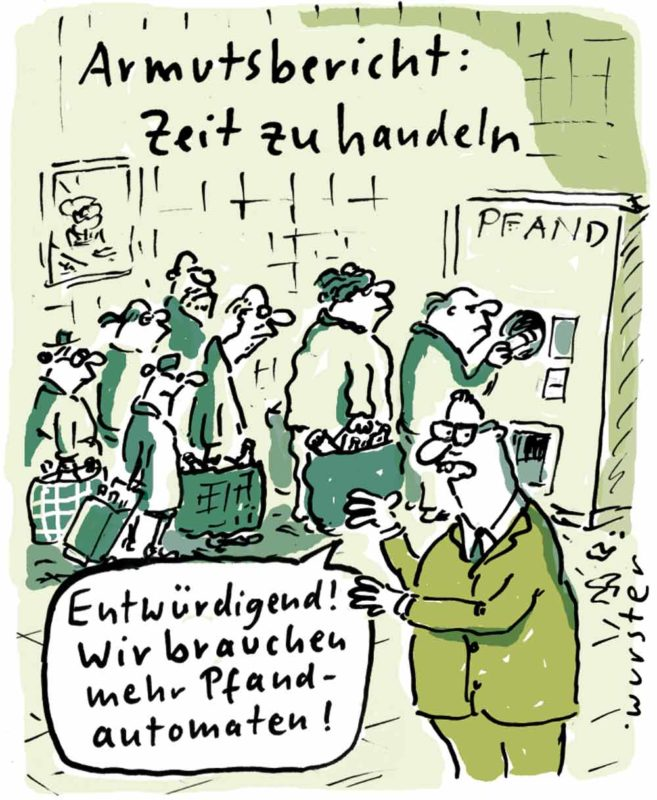 Armutsbericht Deutschland Pfandautomat Altersarmut