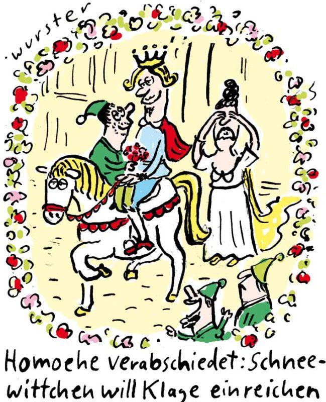 Schneewittchen Prinz Sieben Zwerge Märchen Ehe für alle Homo-Ehe Gleichgeschlechtliche Ehe