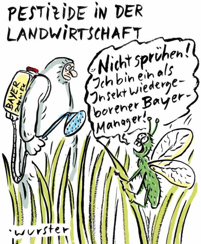 Insektizide Pestizide Glyphosat Bayer Monsanto