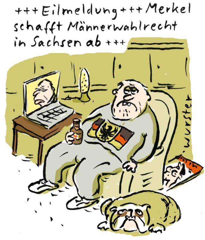 100 Jahre Frauenwahlrecht AFD Sachsen stärkste Kraft Bundestagswahl Wahl