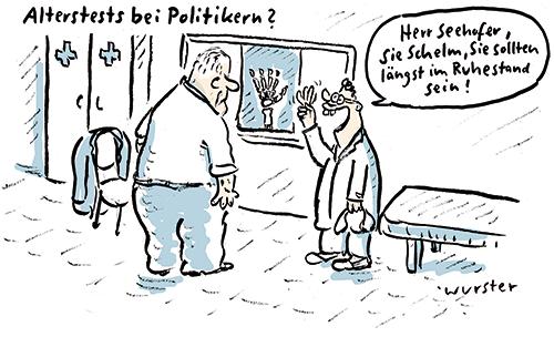 CSU Tagung Horst Seehofer Groko Flüchtlinge Alterstest