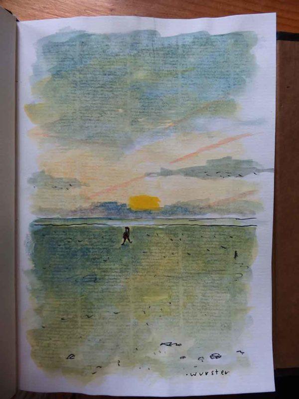 Sonnenuntergang Strand Meer