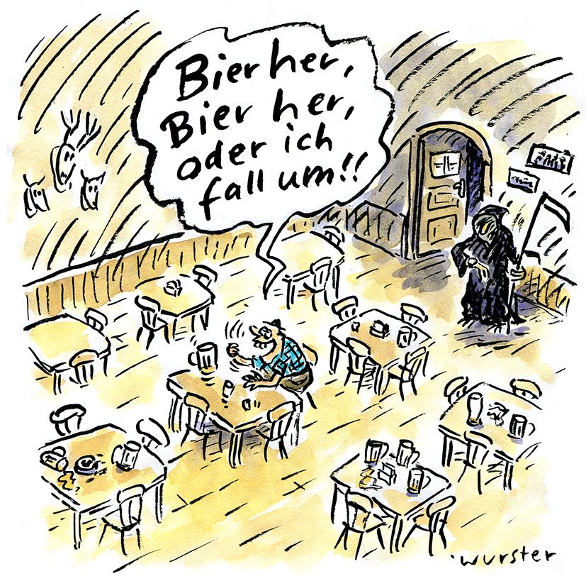 Hopfen Malz Kneipe Wirtshaus Bayern Maß Tod